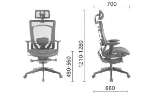 Elegant Mesh Chair 網椅 M831EA dimensions